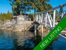 Waterfront Home + Cottage & Moorage in Halfmoon Bay for Sale