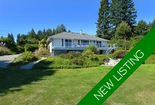 3 Bedroom Rancher with Ocean Views in Gibsons For Sale